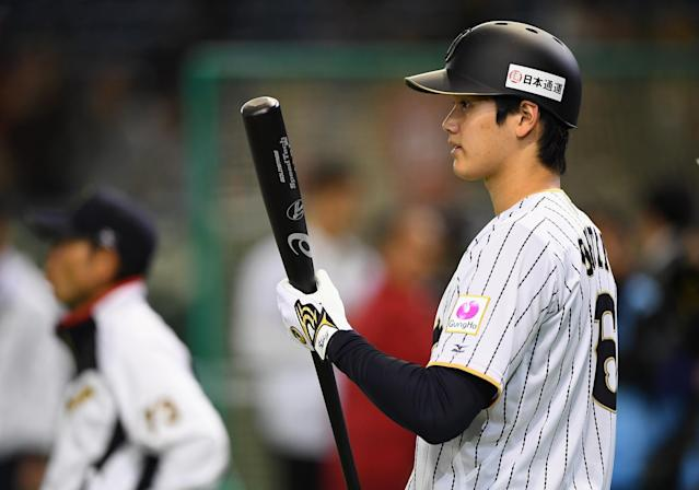MLB teams are busy making their best sales pitch to Shohei Ohtani's agents. (Getty Images)