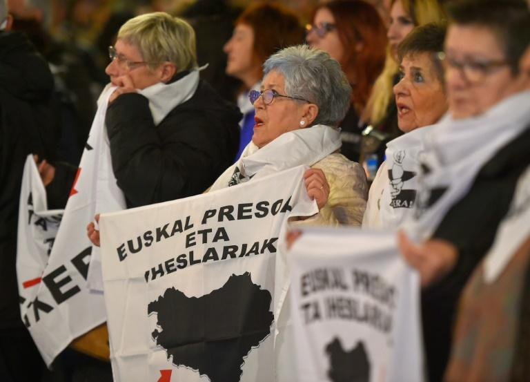 Relatives of Basque prisoners hold regular protests like these to demand they be moved closer to home