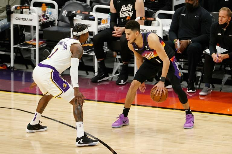 Devin Booker led the Phoenix Suns to victory over the Los Angeles Lakers with a 34-point display