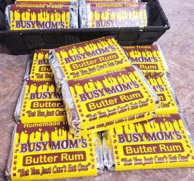 Tracy Pitcher-Stoyles says Busy Mom's Butter Rum bars are all handmade, and have been flying off the shelves in South Dildo recently. (Submitted by Tracy Pitcher-Stoyles - image credit)