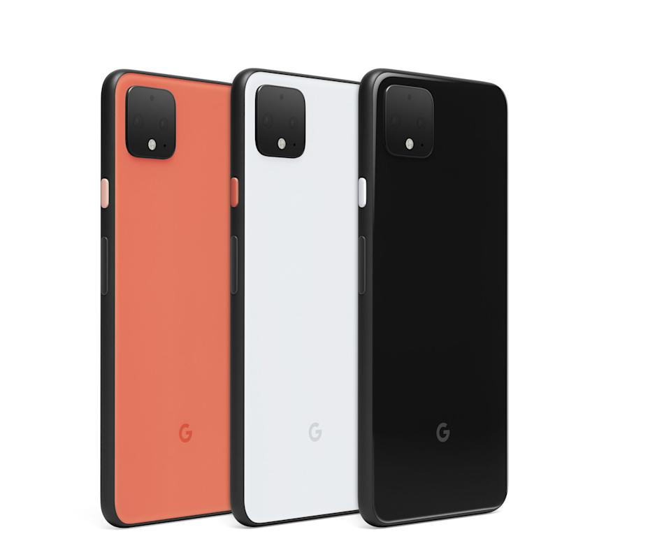 The Google Pixel 4 comes in three colours: Just Black, Clearly White and the limited edition Oh So Orange. (PHOTO: Google)