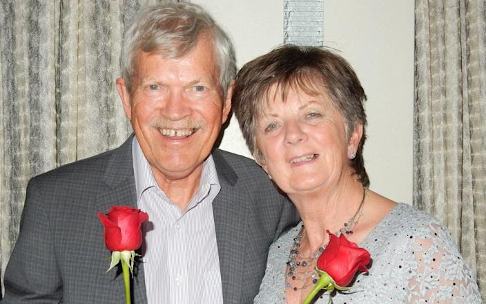 Joy Stokes, pictured with her husband Nick, died after being unable to obtain cancer treatment