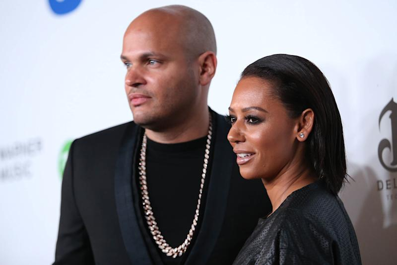 Stephen Belafonte and Mel B (Credit: Omar Vega/Invision/AP)