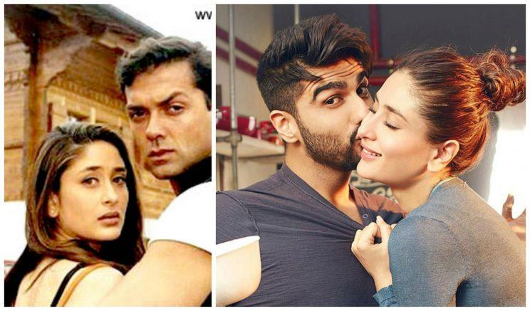 <p>(Left) Kareena Kapoor and Bobby Deol from the movie Ajnabee, released in the year 2001. (Right) A scene from Kareena Kapoor – Arjun Kapoor starrer Ki & Ka, released last year, in which Bebo shares a sizzling chemistry with her younger co-star. Fifteen years divide these two movies, yet Kareena's playfulness and vigour has remained intact.</p>