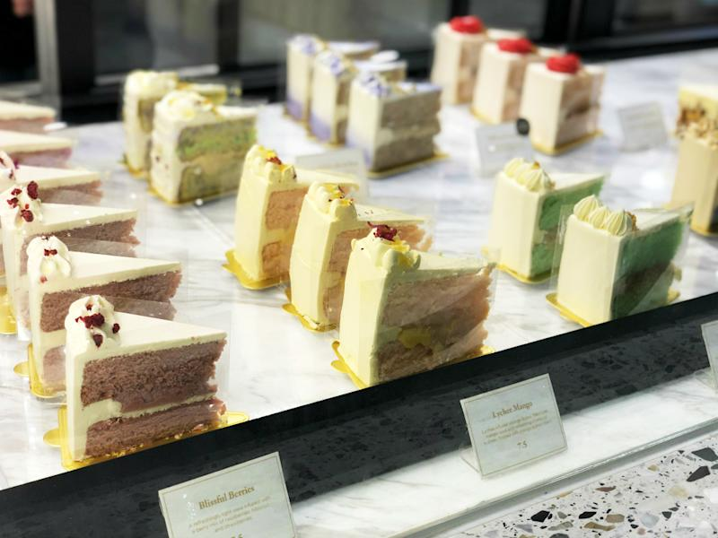 Cakes on display at the Baker's Brew outlet at the Great World shopping center. Photo: Coconuts