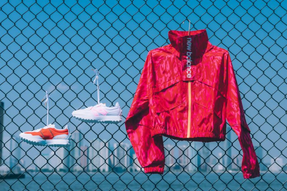 Gauff's 327 sneakers and windbreaker from the New Balance collaboration. - Credit: Courtesy of New Balance