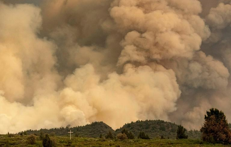Plumes of smoke rose into the sky as nearly 20,000 acres in California were engulfed by the lava fire