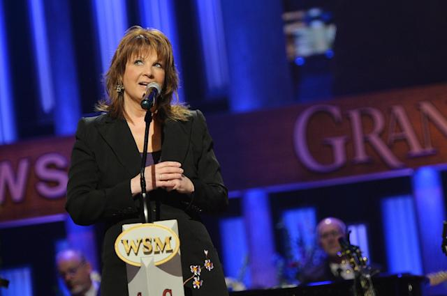 NASHVILLE, TN - MAY 02: (EXCLUSIVE COVERAGE) Country musician Patty Loveless performs at the funeral service for George Jones at The Grand Ole Opry on May 2, 2013 in Nashville, Tennessee. Jones passed away on April 26, 2013 at the age of 81. (Photo by Rick Diamond/Getty Images for GJ Memorial)