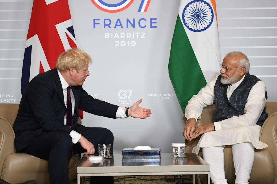 <p>Prime Minister Boris Johnson was meant to visit India at the end of April</p> (PA Archive)