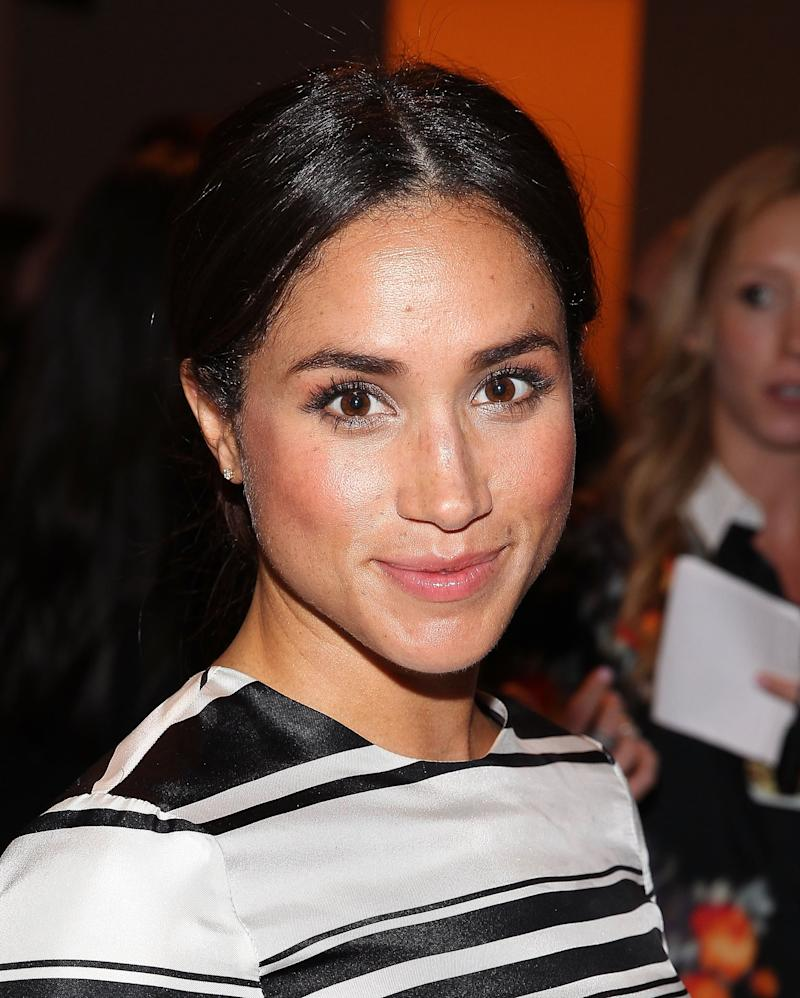 NEW YORK, NY - SEPTEMBER 05: Model Meghan Markle attends Peter Som during MADE Fashion Week Spring 2015 at Milk Studios on September 5, 2014 in New York City. (Photo by Paul Morigi/WireImage)