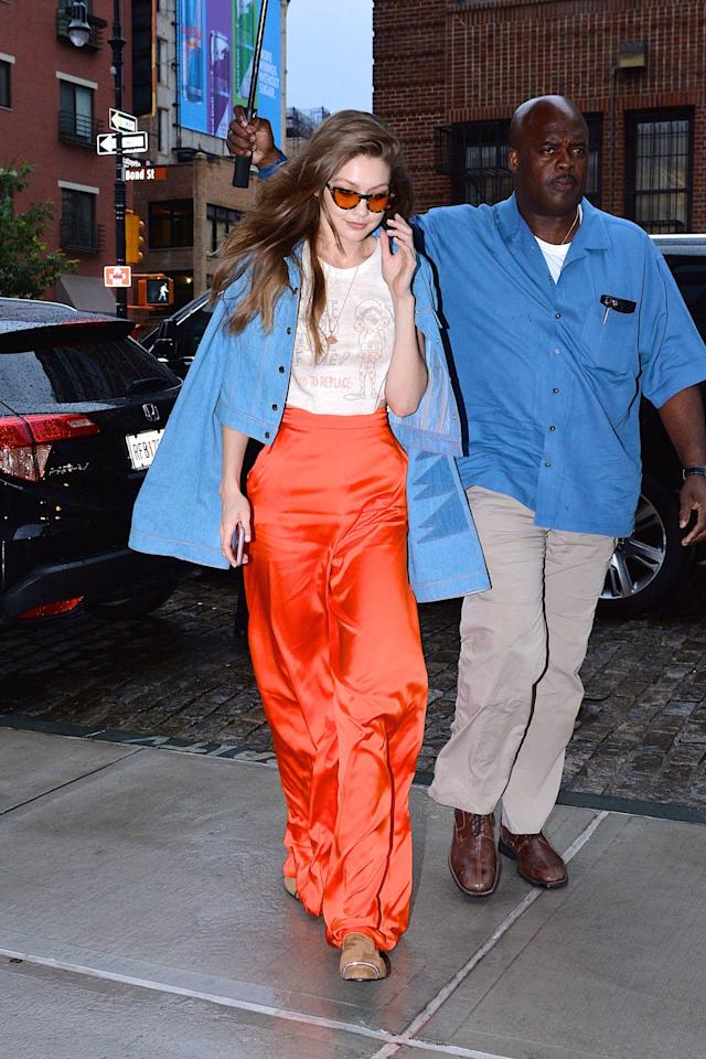 <p>From bath robe-inspired jackets to lazy-girl sweats, Gigi can rock it all. Here are her best street style moments that you'll probably copy tomorrow. </p>