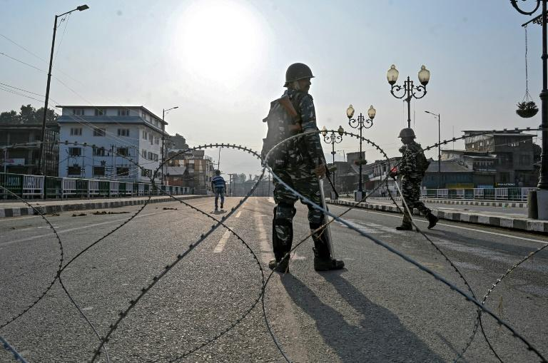 Srinagar is coming up to one week without internet or phones -- the city's 1.5 million people cooped up in their homes unless they have a curfew pass (AFP Photo/TAUSEEF MUSTAFA)