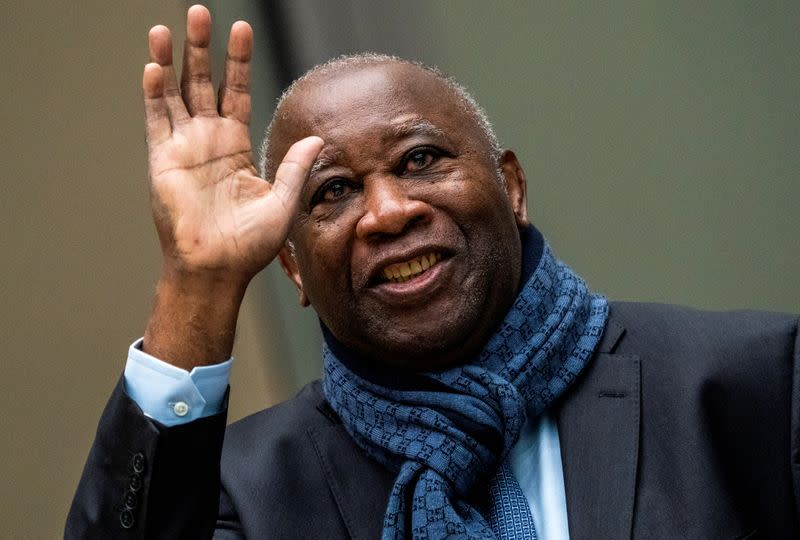 Former Ivory Coast President Laurent Gbagbo appears before the International Criminal Court in The Hague