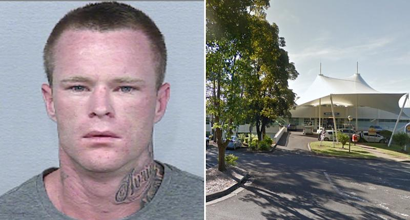 A NSW prisoner, Matthew Furner (pictured), has escaped from Port Macquarie Base Hospital while he was being treated.