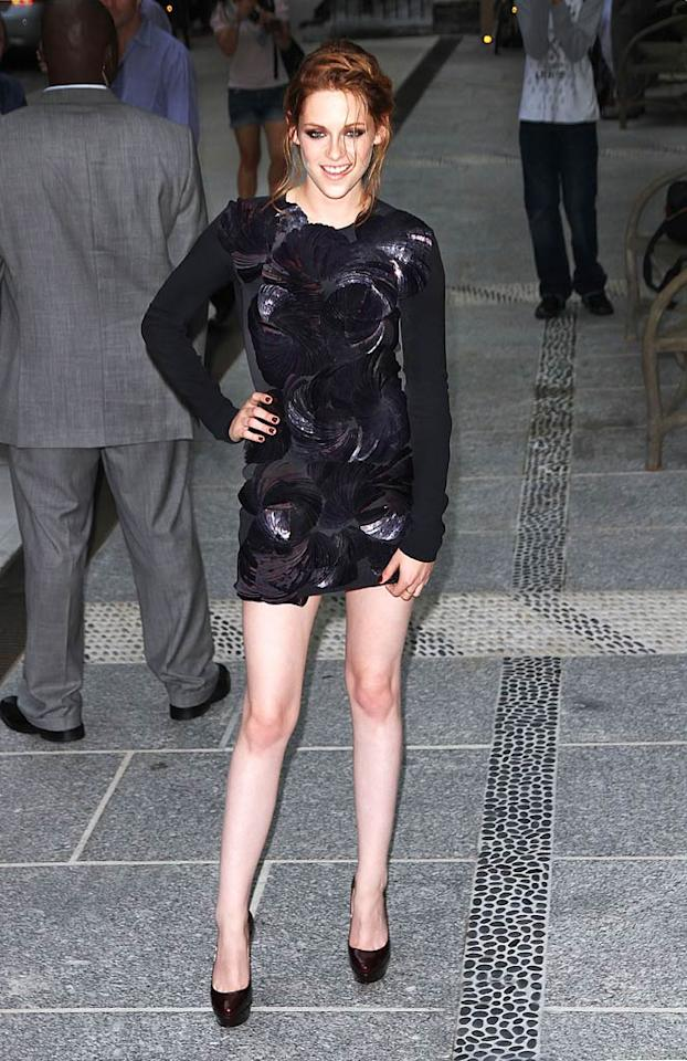 "One day earlier, KStew confirmed her ongoing love affair with the LBD, and rocked a textured RM by Roland Mouret Fall 2010 mini at a special screening of her new film, ""The Twilight Saga: Eclipse,"" in NYC. Jackson Lee/<a href=""http://www.splashnewsonline.com"" target=""new"">Splash News</a> - June 28, 2010"