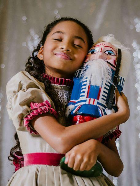 PHOTO: Charlotte Nebres, 11, plays Marie in New York City Ballet's 'George Balanchine's The Nutcracker,' in New York, Nov. 16, 2019. (Heather Sten/The New York Times via Redux)