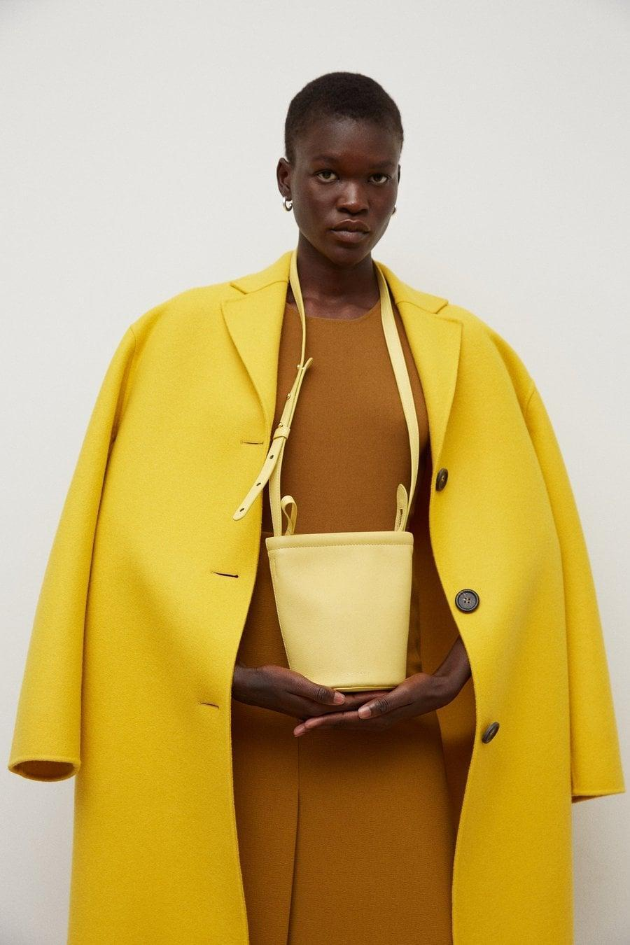 <p>Add a pop of color to your wardrobe with the <span>Mansur Gavriel Mini Zip Bucket Bag</span> ($465).</p>