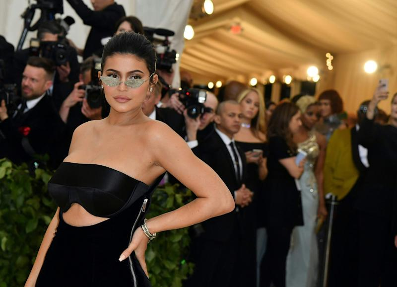 Helping hand: Reality TV star Kylie Jenner: AFP/Getty Images