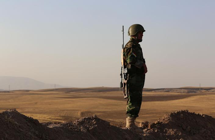 The Kurdish peshmerga had managed to halt the advances of the Islamic State in Iraq earlier this year before the jihadists regained some of strategic territory (AFP Photo/Safin Hamed)