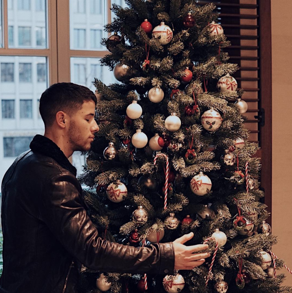 "<p>""It's almost Christmas time,"" the singer and actor teased about this elegant tree. (Photo: <a rel=""nofollow"" href=""https://www.instagram.com/p/BcYKunilmeV/?hl=en&taken-by=nickjonas"">Nick Jonas via Instagram</a>) </p>"