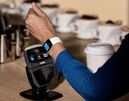 Apple Watch being used to make a purchase