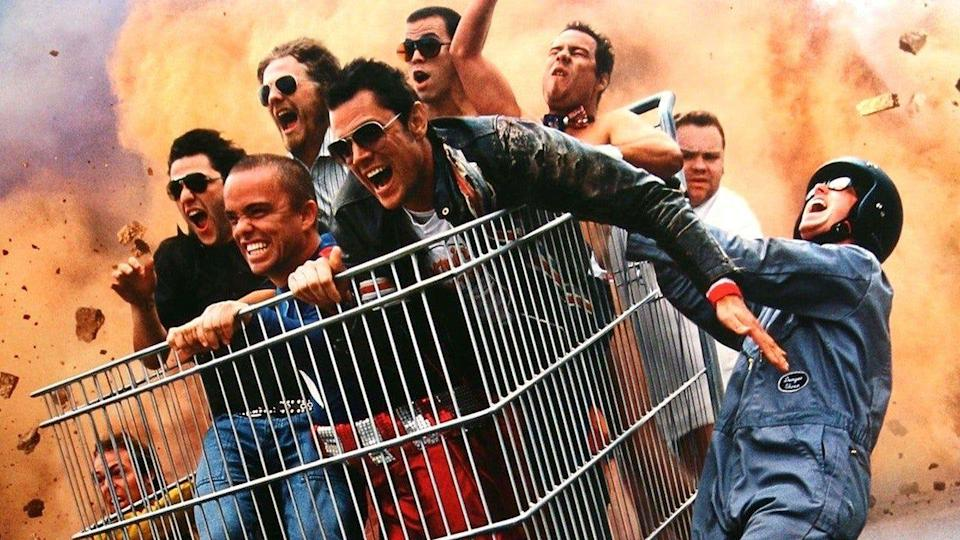 """<p>After a decade-long hiatus of presumably healing their wounds, the <em>Jackass</em> fellas are set to <a href=""""https://deadline.com/2020/04/jackass-4-new-movie-johnny-knoxville-2021-release-1202813470/"""" rel=""""nofollow noopener"""" target=""""_blank"""" data-ylk=""""slk:return to the big screen"""" class=""""link rapid-noclick-resp"""">return to the big screen</a> in 2021 to perform more insanely dangerous stunts for your entertainment. </p>"""