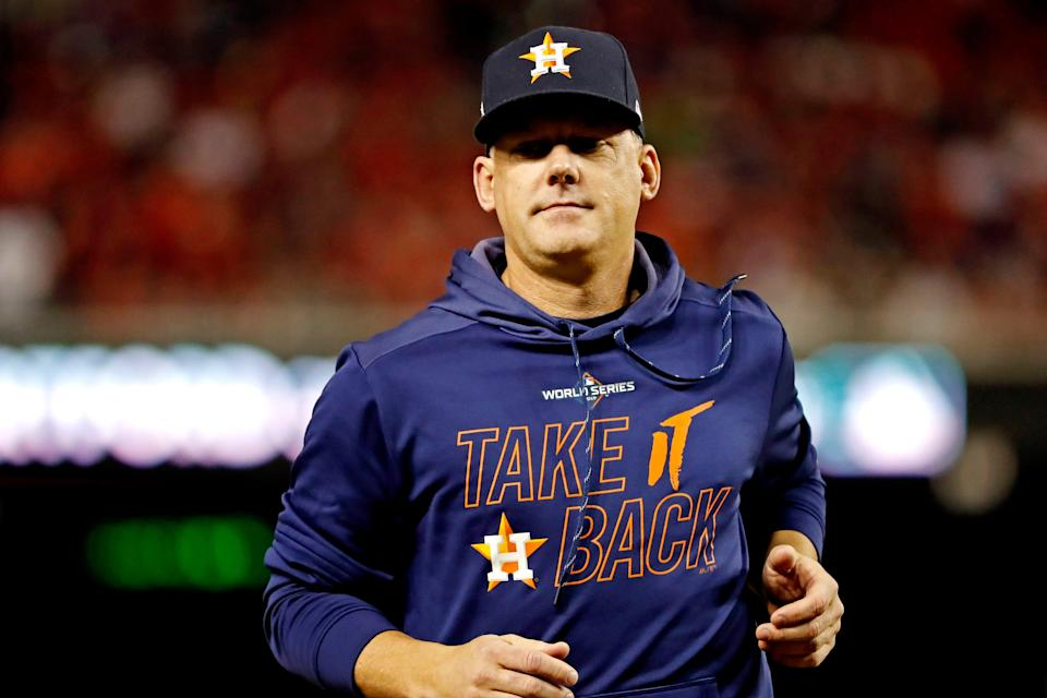 A.J. Hinch was suspended and then fired on Jan. 18 by the Astros for his involvement in the 2017 cheating scandal.
