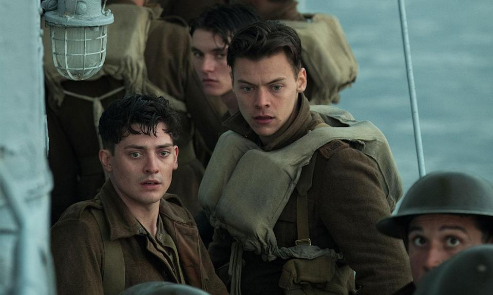"<p>'Dunkirk' is Christopher Nolan's best film. It's a relentless ride that'll leave you exhausted, shaken and with a ringing in your ears. It's unique, typically Nolan-esque narrative separates it from other war films, and best of all, Harry Styles isn't a distraction. – <a href=""https://twitter.com/robjyoung"" rel=""nofollow noopener"" target=""_blank"" data-ylk=""slk:Rob Young"" class=""link rapid-noclick-resp""><em>Rob Young</em></a>. (Warner Bros.) </p>"