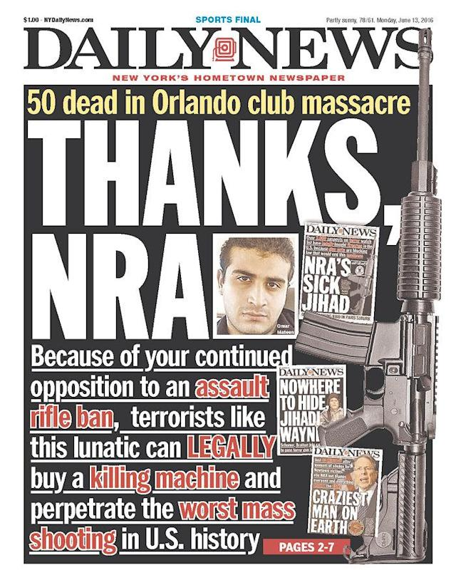 <p>Daily News<br> Published in New York, N.Y. USA. (newseum.org) </p>