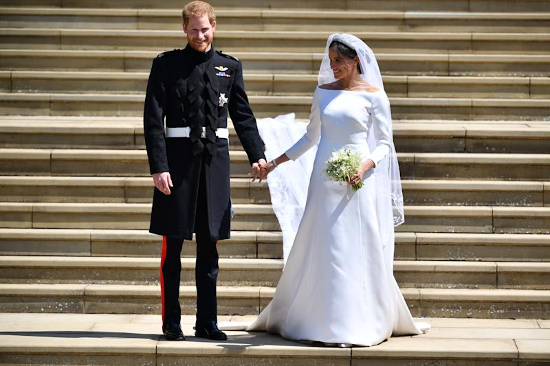 Image result for meghan markle wedding dress windsor castle