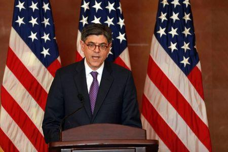 U.S. Secretary of the Treasury Jack Lew attends a news conference at the close of the G20 Finance Ministers and Central Bank Governors meeting in Chengdu in Southwestern China's Sichuan province