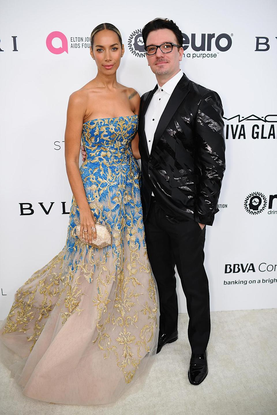 <p>Leona Lewis and JC Chasez attends the 25th Annual Elton John AIDS Foundation's Academy Awards Viewing Party at The City of West Hollywood Park on February 26, 2017 in West Hollywood, California. (Photo by Dimitrios Kambouris/Getty Images for EJAF) </p>