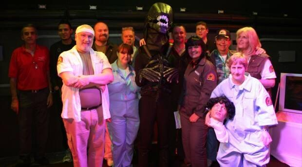 A group photo from the documentary Alien on Stage, showing at the Calgary Underground Film Festival this year.