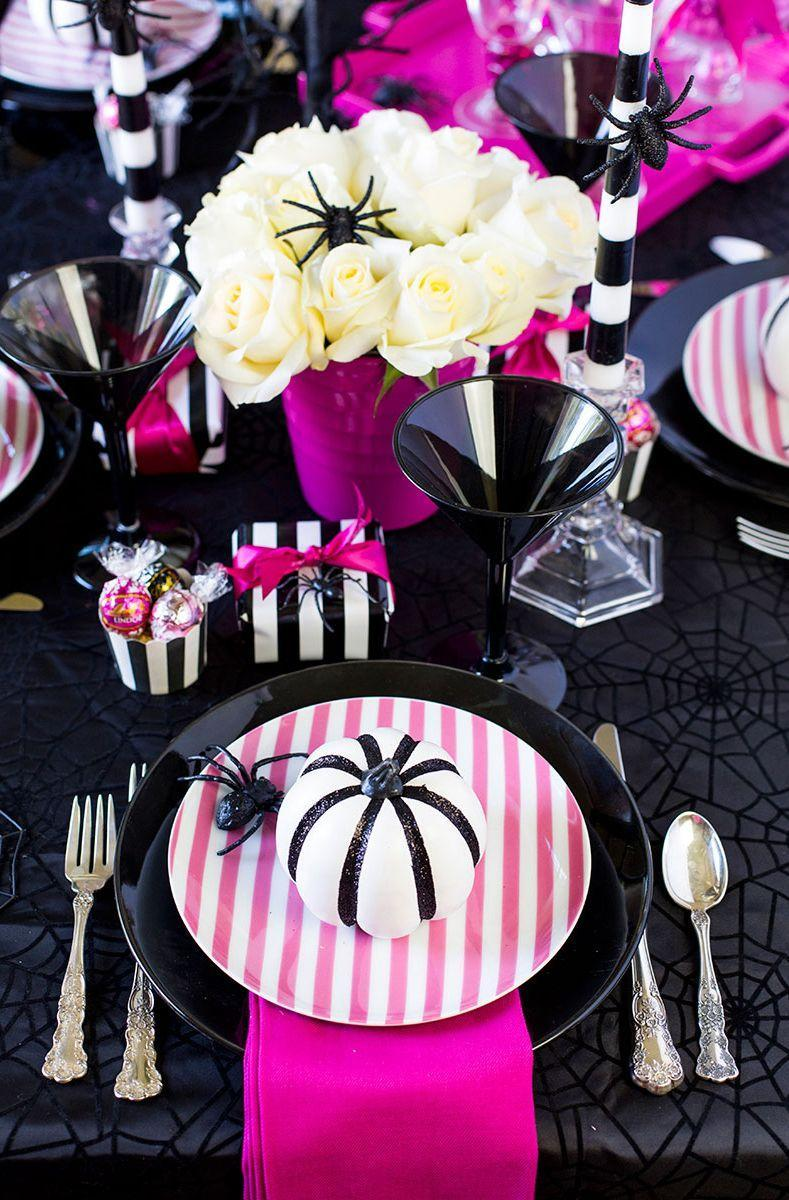 "<p>Did you know that October is National Breast Cancer Awareness month? Call attention to the cause and celebrate the most spooktacular time of year with an evening of Halloween treats and cocktails with your girlfriends.</p><p><strong>Get ideas at <a href=""https://pizzazzerie.com/holidays/pink-o-ween-dinner-party-tablescape/"" rel=""nofollow noopener"" target=""_blank"" data-ylk=""slk:Pizzazzerie"" class=""link rapid-noclick-resp"">Pizzazzerie</a>.</strong></p><p><a class=""link rapid-noclick-resp"" href=""https://www.amazon.com/YCC-Linen-Polyester-Restaurant-Thanksgiving/dp/B017KSXWO0/ref=sr_1_5?tag=syn-yahoo-20&ascsubtag=%5Bartid%7C10050.g.4620%5Bsrc%7Cyahoo-us"" rel=""nofollow noopener"" target=""_blank"" data-ylk=""slk:SHOP HOT PINK NAPKINS""><strong>SHOP HOT PINK NAPKINS</strong> </a></p>"