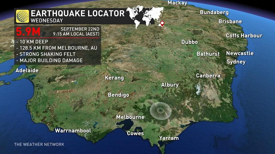 Australia shaken by M5.9 earthquake, damage reported in Melbourne