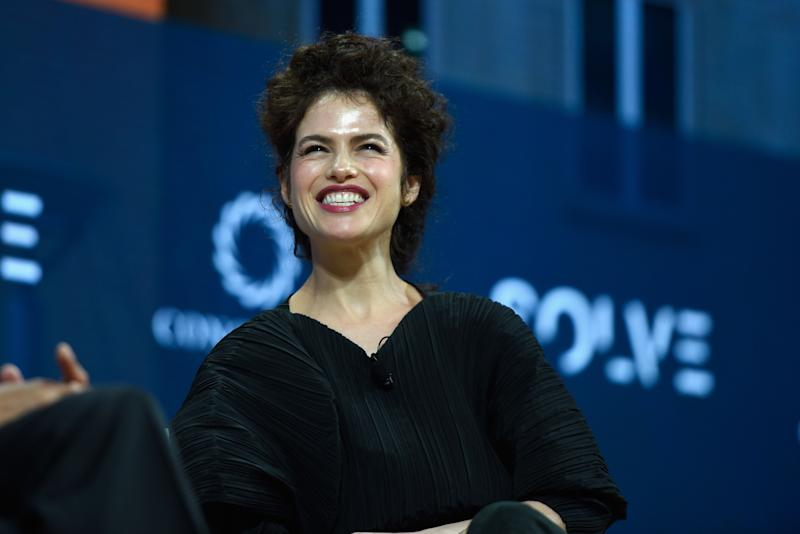 NEW YORK, NY - SEPTEMBER 18: Dr. Neri Oxman, Associate Professor of Media Arts and Sciences, MIT, speaks at The 2017 Concordia Annual Summit at Grand Hyatt New York on September 18, 2017 in New York City. (Photo by Riccardo Savi/Getty Images for Concordia Summit)