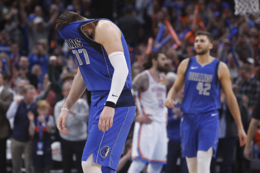 Luka Doncic drops 35 in loss to Thunder