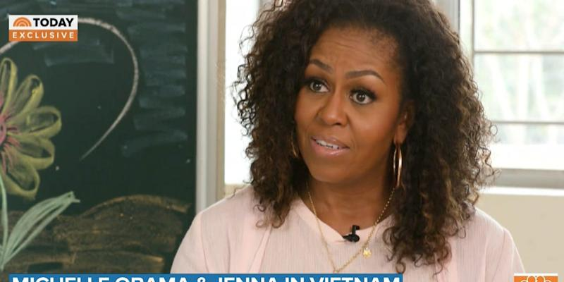Former First Lady Michelle Obama on the Today Show.