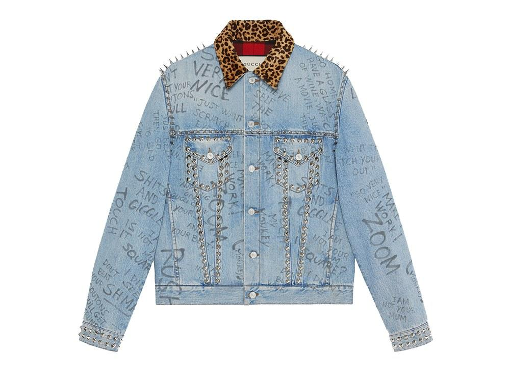 "<p><em>$4,390, buy now at <a rel=""nofollow"" href=""https://www.gucci.com/us/en/pr/men/mens-ready-to-wear/mens-denim/scribbled-writing-print-denim-jacket-p-452412XR3584425?categoryPath=Men%2FMens-Ready-To-Wear%2FMens-Denim&listName=ProductGridComponent&mbid=synd_yahoostyle&position=9"">gucci.com</a></em></p>"