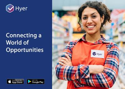 Hyer connects businesses to an on-demand workforce; and connects people to flexible, local job opportunities.