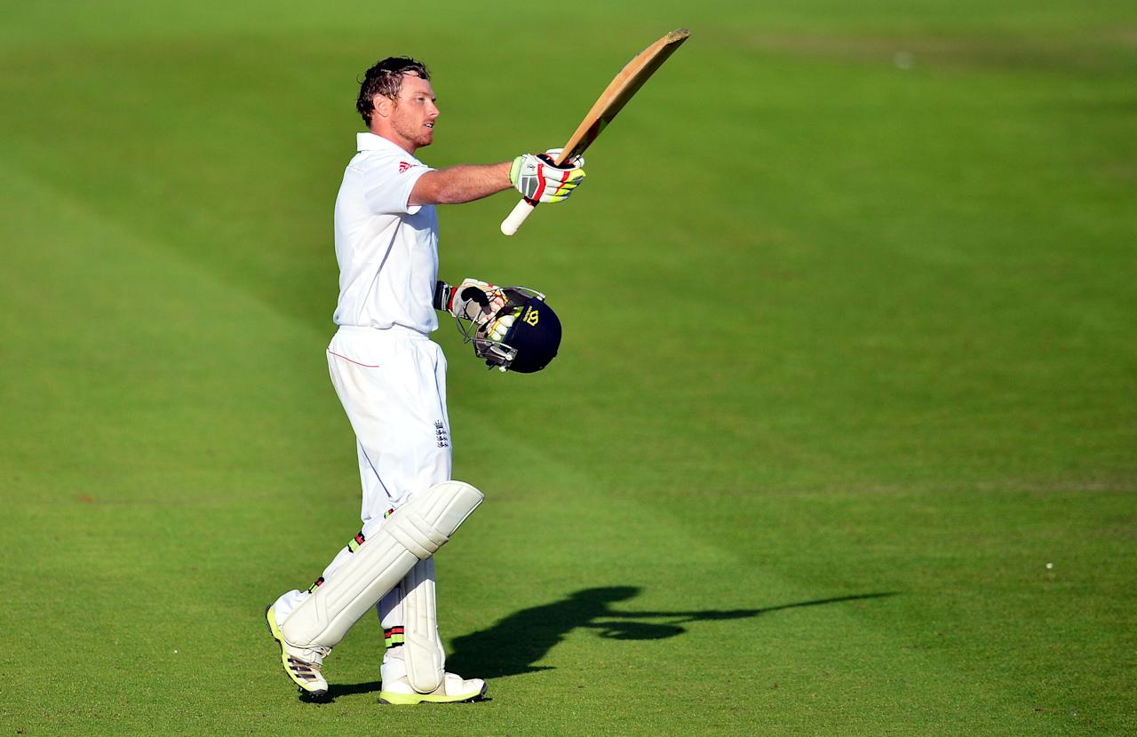 File photo dated 11/08/2013 of England's Ian Bell celebrates his 100 during day three of the Fourth Investec Ashes test match at the Emirates Durham ICG, Durham.