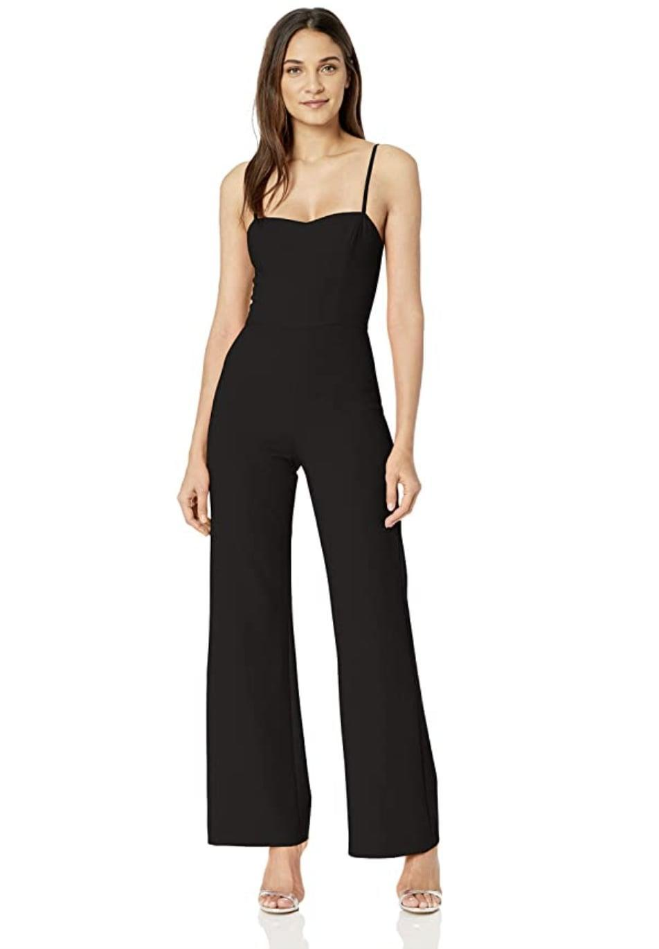 <p>What's not to love about this <span>French Connection Flared Leg Jumpsuit</span> ($99, originally $198)? The sweetheart neckline, thin straps, and modern silhouette are everything we love to see in a jumpsuit.</p>