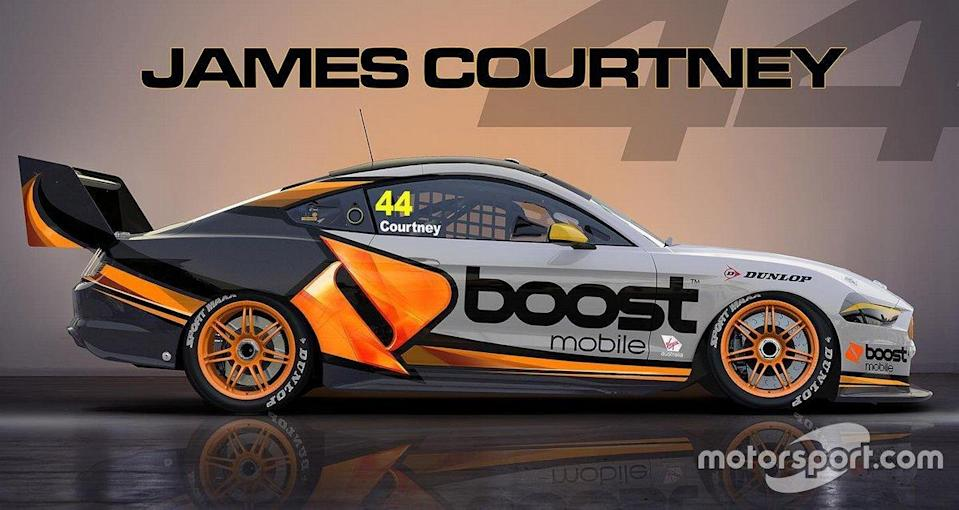 """James Courtney's Boost Mobile Mustang livery render<span class=""""copyright"""">James Courtney</span>"""