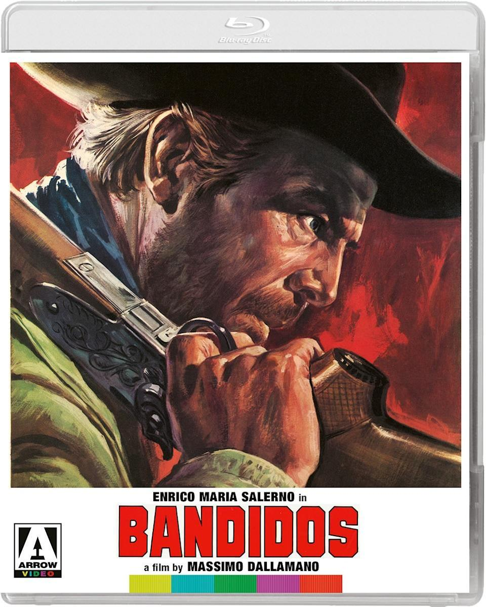 The Blu-ray cover for Bandidos in the Vengeance Trails box set.