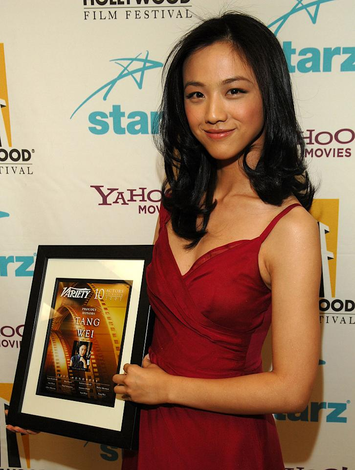 """<a href=""""http://movies.yahoo.com/movie/contributor/1809726809"""">Tang Wei</a> at the Hollywood Film Festival's Hollywood Awards in Beverly Hills - 10/22/2007"""