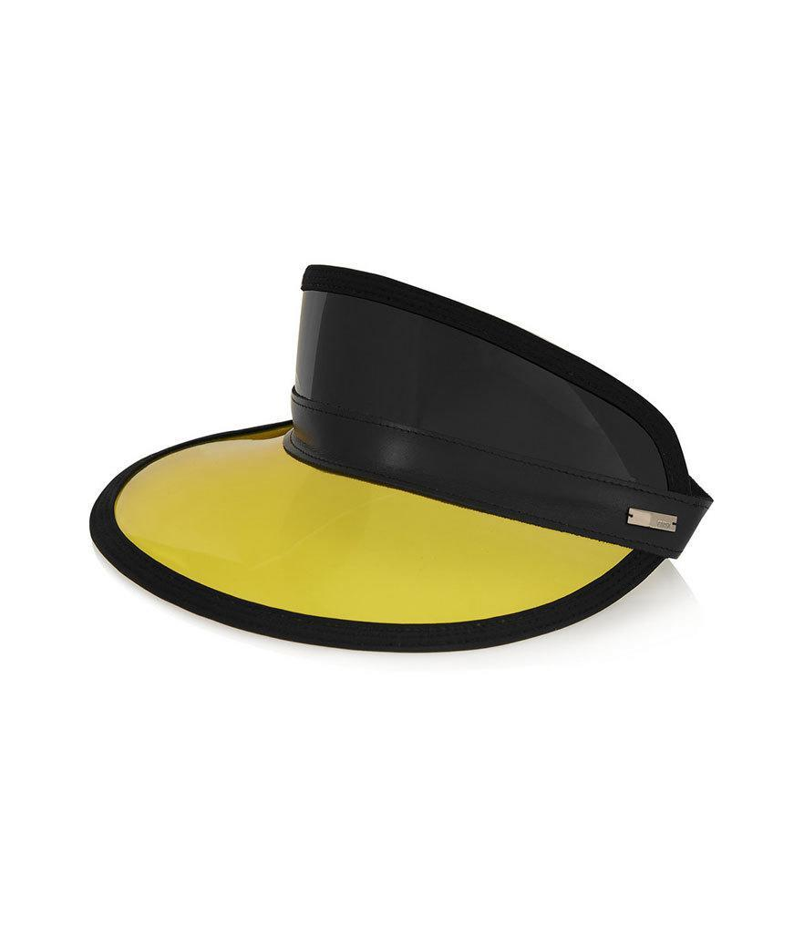"<p>Fendi Faux Leather-Trimmed PVC Visor, $400, <a href=""http://www.net-a-porter.com/us/en/product/638723/fendi/faux-leather-trimmed-pvc-visor"" rel=""nofollow noopener"" target=""_blank"" data-ylk=""slk:net-a-porter.com"" class=""link rapid-noclick-resp"">net-a-porter.com</a><br><br></p>"