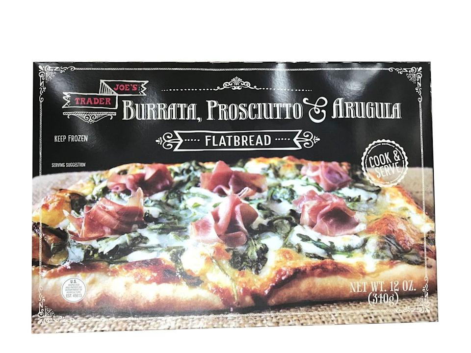 <p>UGH so good. The red peppers were juicy, prosciutto is always a good idea, and it was overall a good balance of crispy and cheesy. This is the ideal frozen pizza — er, flatbread.</p>