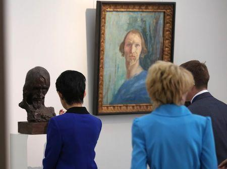 Japan's Princess Takamado visits museum in Saransk, Russia June 19, 2018. REUTERS/Artem Artamonov