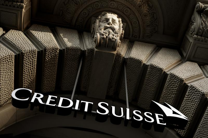 The logo of Swiss banking giant Credit Suisse