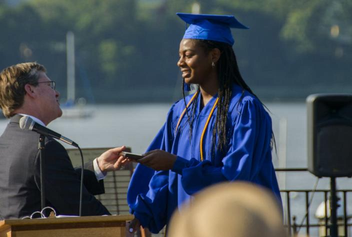 """<span class=""""caption"""">Was 'white fragility' the reason behind two Black Mississippi high schoolers' losing their valedictorian/salutatorian status?</span> <span class=""""attribution""""><a class=""""link rapid-noclick-resp"""" href=""""https://www.gettyimages.com/detail/photo/teenage-girl-at-her-graduation-ceremony-royalty-free-image/910464948?adppopup=true"""" rel=""""nofollow noopener"""" target=""""_blank"""" data-ylk=""""slk:Sue Barr/Getty Images"""">Sue Barr/Getty Images</a></span>"""